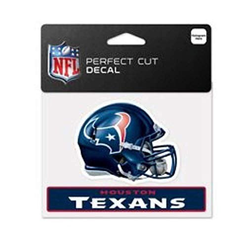 Bek Brands Licensed Professional Football Teams 4 x 5 Cling Decal for Cars, Windows and More, Helmet (Houston Texans)