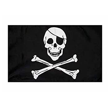 pirate flag skull and crossbones jolly rodger large 5x3 size