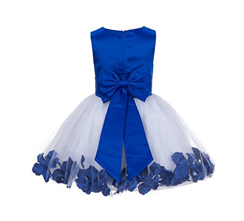 Wedding Pageant Rose Petals Flower Girl Dress Tulle Toddler Bridal Easter Recital Occasions 305NT