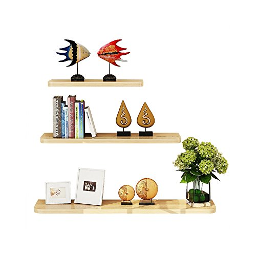 WUDENHOM Wall Mountable Shelves, Set of 3 Easy Install Fashion Display Wood Modren Floating Shelves for Home Office(White Maple Color,12,16,20inch) by WUDENHOM (Image #8)