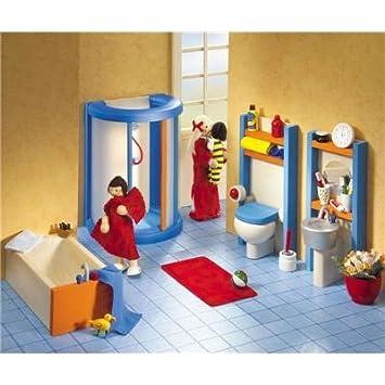 Puppenhausmöbel Badezimmer | Selecta 4364 Ambiente Badezimmer Puppenhausmobel Amazon De Spielzeug