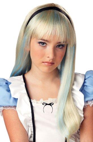 Girls Storybook Blonde Wig (Blue Alice Wig Costume Accessory)
