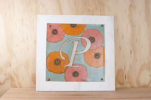 Poppy Garden Wall Letter by Moxie and Oliver