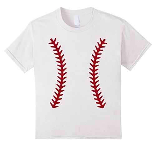 Kids Baseball Halloween Costume Tshirt Sports Ball Shirt 12 (Baseball Girls Costumes)