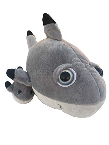 The Petting Zoo Bright Eyes Pocketz Mom and Baby Shark - 14 Inches ()
