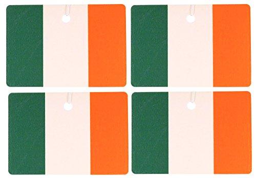 Set of Four Irish Flag Air Fresheners, Horizontal, Garden Mint