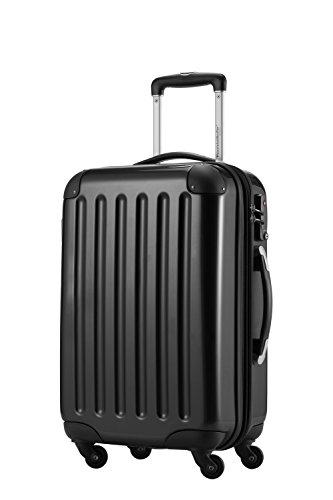HAUPTSTADTKOFFER, Bagaglio a mano Rigida Alex, TSA, Taglia 55 cm, 42 Litri, Nero e tag bagagli