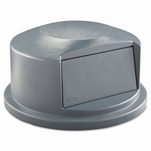 Rubbermaid Commercial RCP 2647-88 GRA Round Brute Dome Top Receptacle, Push Door, 24 13/16