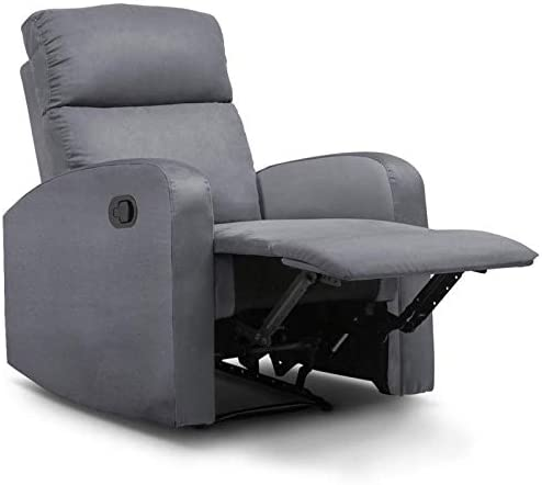 IDMarket Fauteuil Relaxation inclinable Gris Anthracite