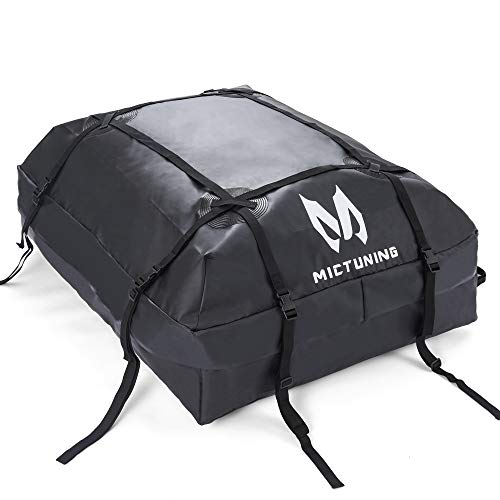 (MICTUNING Rooftop Cargo Carrier Bag - Waterproof Car Top Carrier Luggage Storage Bag for Truck SUV Van (15 cu. ft.))