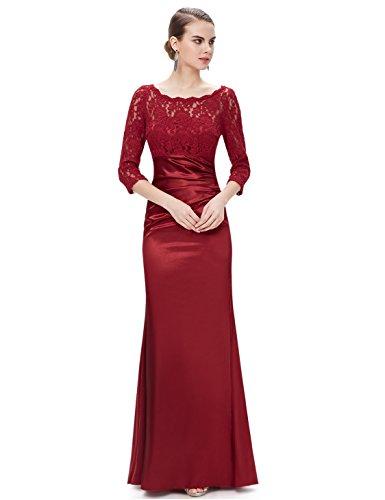 mujer para Vestido Ever HE09882SB14 Pretty Borgoña tn8wtxIfHq