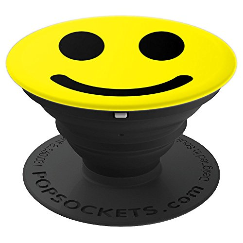 Happy Smiley Face Emoji :-) Yellow Smileyface Emoticon Smile - PopSockets Grip and Stand for Phones and Tablets