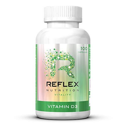 Reflex Nutrition | Vitamin D Tablets | 2000 IU | Daily Supplement Sunshine | Vitamin D3 | (100 Caps)