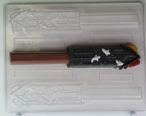 Tall haunted house w/ ghosts flying out H074 Halloween Chocolate Candy (Halloween Ghost Pretzel Rods)