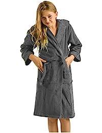 Terry Bamboo Cotton Hooded Robe Bathrobe Girls, Boys, Kids
