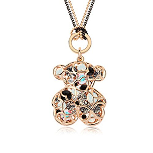 AROUND 101 Austria Swarovski Element Crystal Sweater Chain - Winnie the Pooh (C4) -