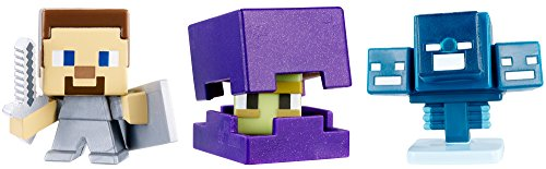 Minecraft Mini Figure (3 Pack) - Shulker Steve with Shield Skullfire Wither -