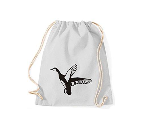 Shirtstown - Bolso de tela de algodón para mujer gris claro