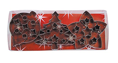 R&M International 1981 Christmas Cookie Cutters with Interior Cut-Outs, 3