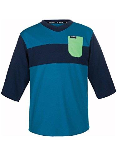 Dakine Kid's Vectra 3/4 Sleeve Bike Jersey Shirt, Blue Rock, Midnight, 12