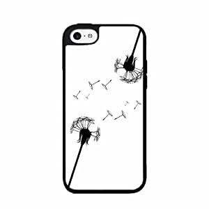 Dandelion - TPU Rubber Silicone Phone Case Back Cover (iPhone 5/5s)