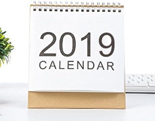 Kelaina Einfach 2019 Desktop Flip Kalender Monat zur Ansicht Stand Up Office Home Tischplaner Kalender Notebook (Klein)