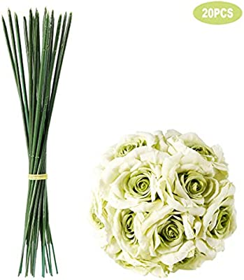 Somier 20pcs Artificial Plastic Rose Flower Stems 6 88 Long Fake Greenish Flower Branch For Diy Rose Bouquets Weeding Party Home Decor Amazon Sg Home