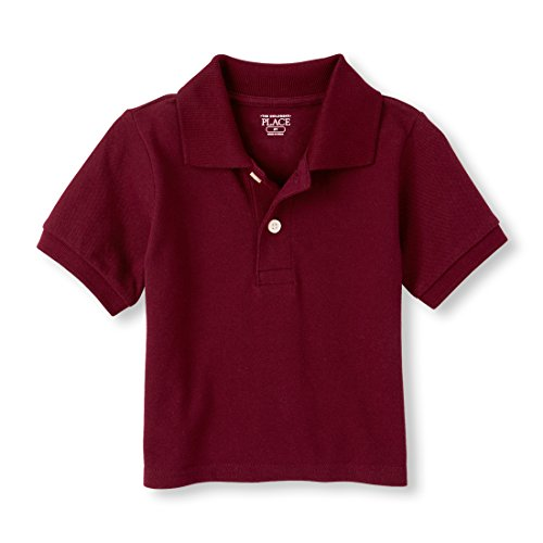 The Childrens Place Baby Boys Short Sleeve Solid Polo