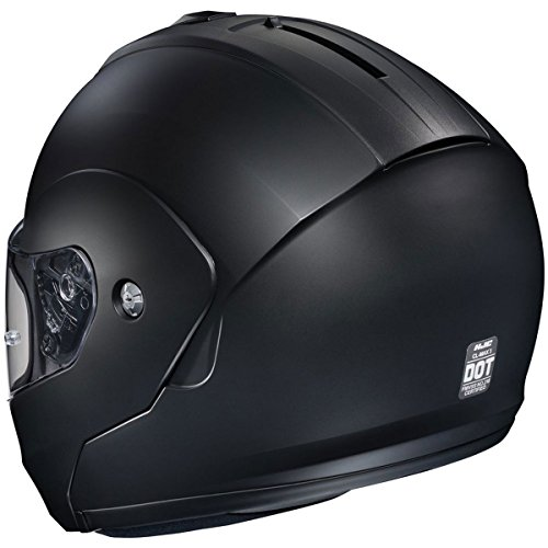 HJC Solid Men's CL-MAX 3 Modular Street Motorcycle Helmet - Semi Flat Black/X-Large