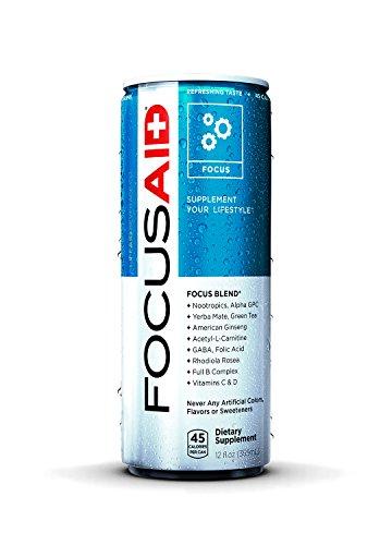 LifeAid Beverage Company FocusAid, Fusion Tea, 12 Count - Focus Aid