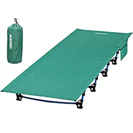MARCHWAY Ultralight Folding Tent Camping Cot Bed, Portable Compact for Outdoor Travel, Base Camp, Hiking, Mountaineering, Lightweight Backpacking