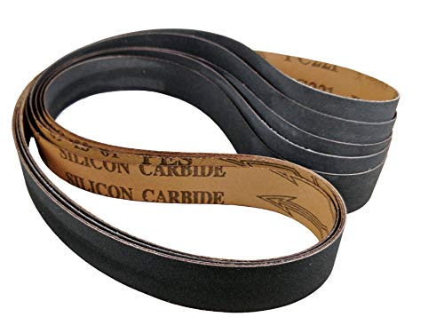 1x30-5 Pack - Choose Your Grit - Premium Made in the USA Silicon Carbide Knife Sharpening/Honing Belts (400 Grit)