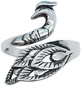 Helen de Lete Vintage Phoenix Wonder Bird 925 Sterling Silver Adjutable Ring