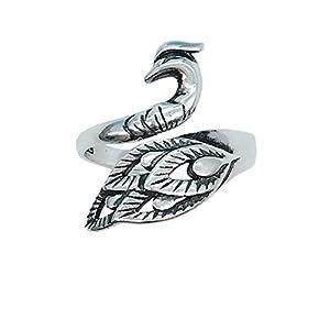 Helen de Lete vintage Wonder fenice in argento Sterling anello aperto