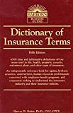 img - for Dictionary of Insurance Terms book / textbook / text book