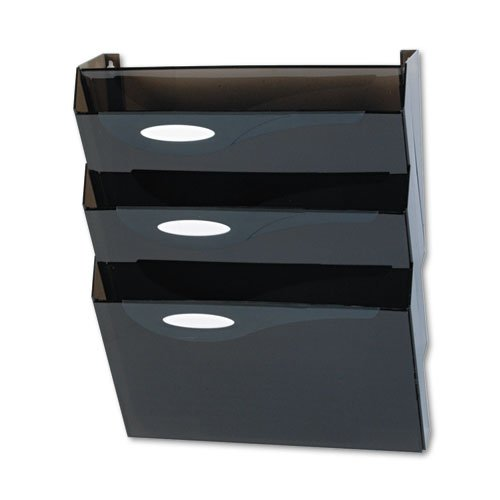 Rubbermaid - Classic Hot File Wall File Systems, Letter, Three Pockets, Smoke - Sold As 1 Set - Wall system with straight corners features a basic pocket that mounts flush to wall (screws included) and add-on pockets. -
