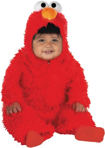[Elmo Infant Plush Halloween Costume, Red, 12-18 Months] (Sesame Street Costumes For Babies)