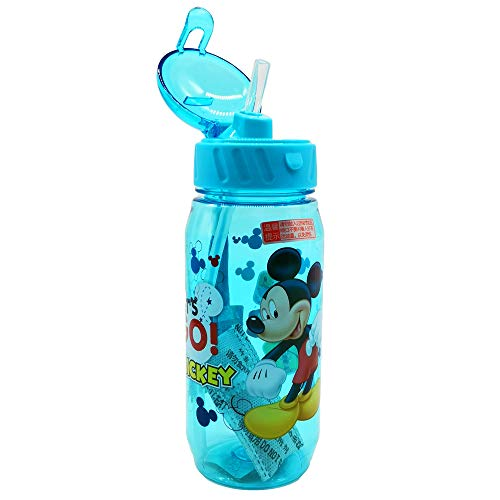 Runninglion Kids Water Botter with Straw 450ml Cup Leak Proof Seal Water Bottles BPA Free Mickey Mouse Thermos Cup for Kids Sport Outside School Children Kids Birthday Prize ()