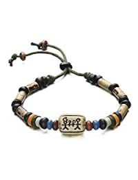 COCO Park New Unisex Jewelry Retro Clay Beads Bangle Wristband Hand-made Rope Adjustable Cuff Bracelet