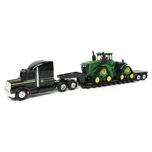 None 1/64 John Deere 9570RX Scraper Special with Semi and (Scale Replica Diecast Tractor Trailer)