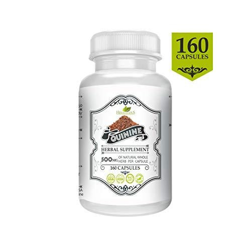 Quinine 160 Capsules, Organic Quinine (Cinchona officinalis) Herbal Supplement