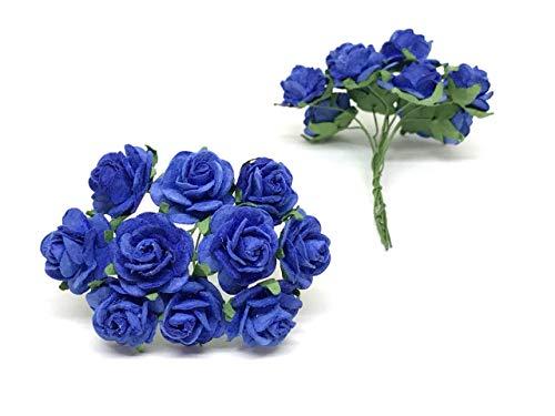 2cm-Royal-Blue-Paper-Flowers-Paper-Rose-Artificial-Flowers-Fake-Flowers-Artificial-Roses-Paper-Craft-Flowers-Paper-Rose-Flower-Mulberry-Paper-Flowers-25-Pieces