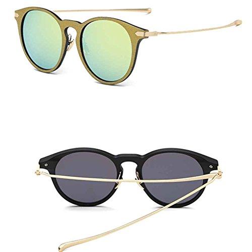 UV400 resina aire 3 de de sol sol PC retro en de de Babysbreath17 aleación la marco al lente de Ronda 3 Mujeres gafas protección gafas forma libre qn7xqvgaZ4