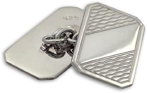 Sayers London Sterling Silver Patterned Cufflinks