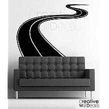 Vinyl Wall Decal Sticker Road Track Race Moto Car Boy Man Gift Kids Room R1827