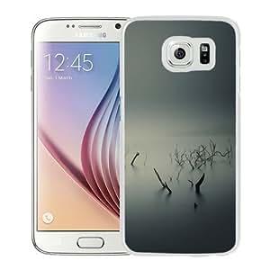 NEW Unique Custom Designed Samsung Galaxy S6 Phone Case With Ubuntu Gnome Mist Fog Underwater Trees_White Phone Case