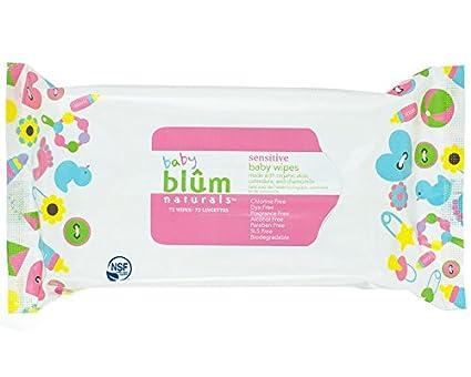 Blum Naturals - Toallitas sensibles al bebé sin fragancia - 72Wipe(s)
