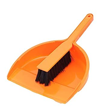 DealMux plástico Início Canto Gap Varrendo ferramenta de limpeza Broom Dustpan 2 Sets