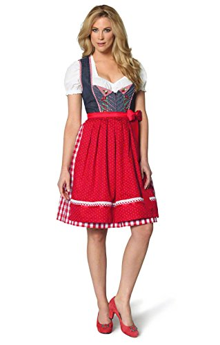 Stockerpoint Women's Midi Dirndl(Dress) 2Pcs. Joana 60 Cm 8 Blue (German Ladies Traditional Dress)