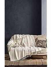 BOHORIA® Sprei extra groot 170 x 230 cm | 100% katoen | sprei voor bank, stoel & bed | knuffeldeken sofadeken wollen deken